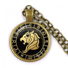 collier signe astro lion