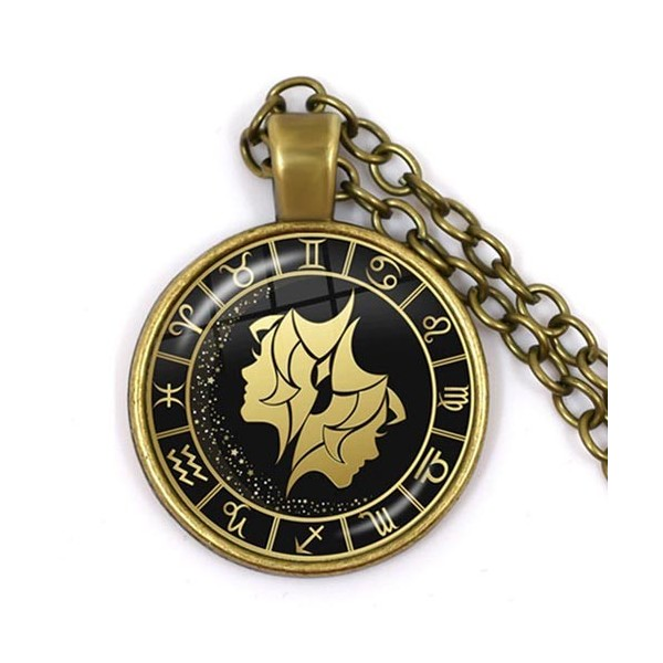 pendentif signe astro gémeaux